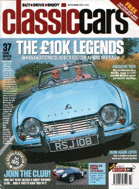 Classic Cars September 2002 cover