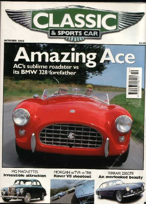 Classic & Sports Car October 2000 cover