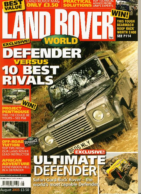Land Rover World August 2005