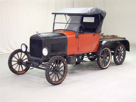 1926 Ford Model T Snowmobile Red 06