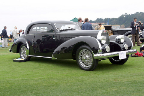 1936 Bugatti Type 57 Paul Nee Pillarless Coupe fvr