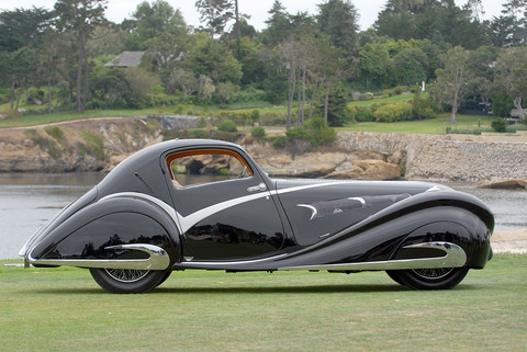 1936 Delahaye 135 Competition Court Figoni et Falaschi Coupe black svr2