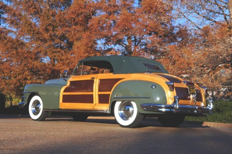 1948 Chrysler Town & Country convertible green rvl