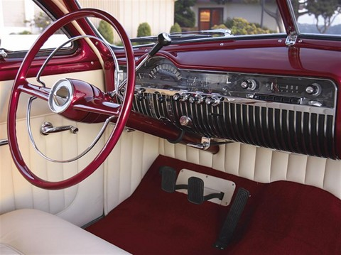 1951 Mercury Coupe (mod) dash