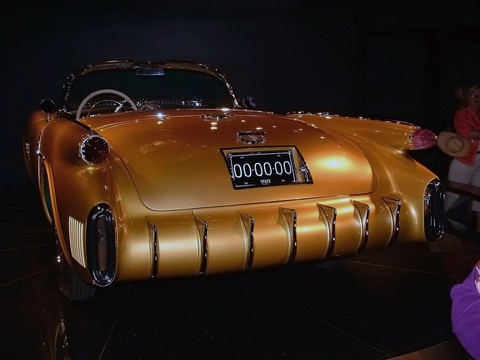 1954 Olds F-88 rear view on turntable