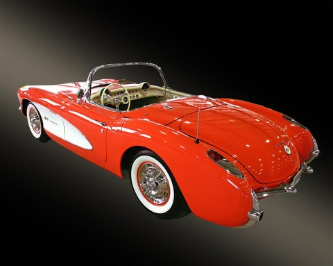 1957 Chevrolet Corvette convertible venetian red rvl