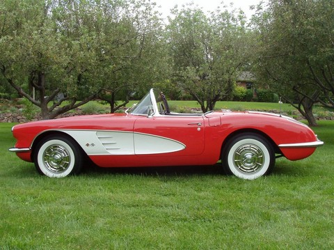 1958 Chevrolet Corvette convertible Signet Red w charcoal interior svl