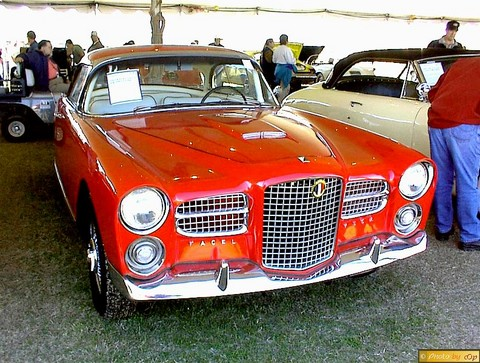 1961 Facel Vega HK 500 cpe Red fvrs ruggles