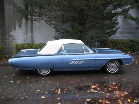 1963 Ford Thunderbird convertible blue svr