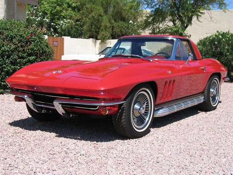 1965 Chevrolet Corvette convertible rally red fvl