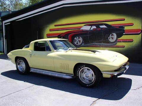 1967 Chevrolet Corvette Coupe yellow fvr