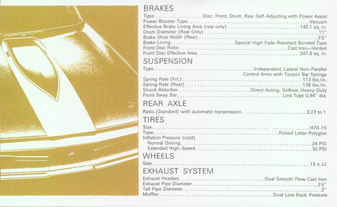 1970 Chrysler 300 Hurst Owners Booklet 12b