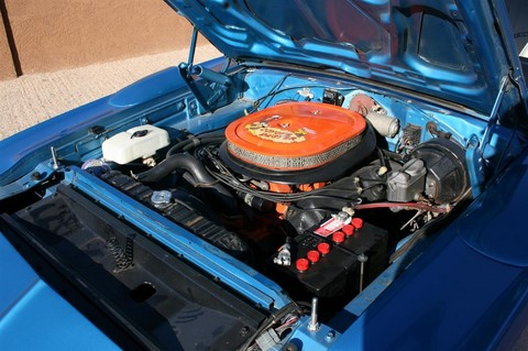 1970 Plymouth Hemi Superbird blue Engine