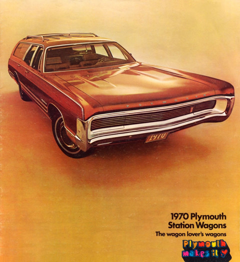 1970 Plymouth Station wagon Brochure 00 cover b