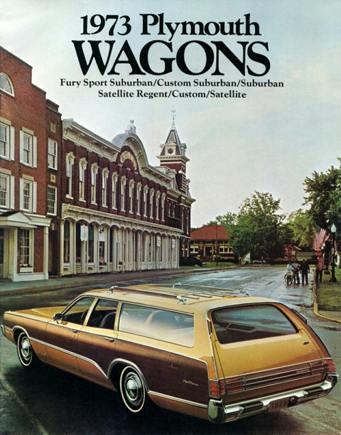 1973 Plymouth Station wagon Brochure 00 cover-b
