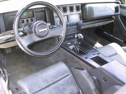 1986 Chevrolet Corvette convertible yellow Interior