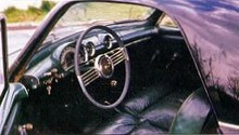1952 Simca 9 Sport Coupe, interior