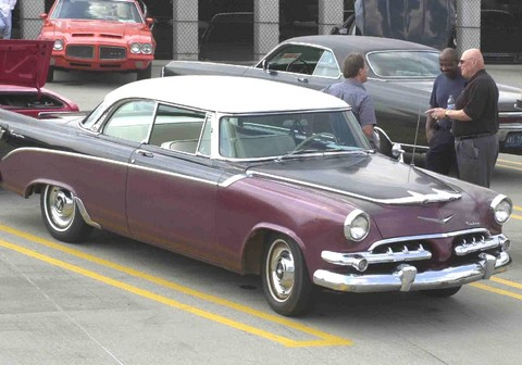 1956 Dodge Royal 2-Door Hardtop Maroon, Black & White hfvr (2003 WW@WD DCTC)