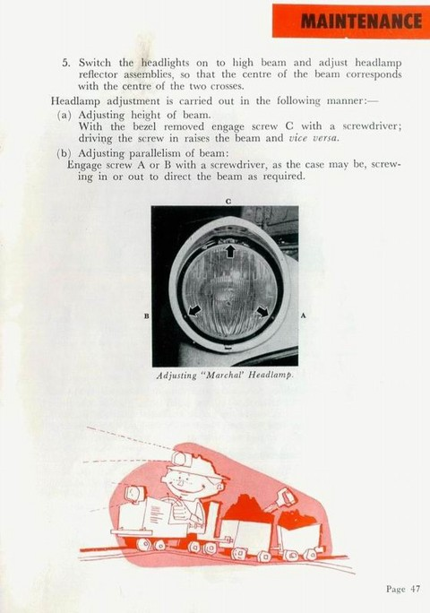1959 Simca Vedette (AUS Instruction Manual) 48 ron
