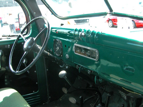 1966 Dodge Power Wagon Pickup Instrument Panel rvr Metallic Green (2005 WW@WD PROC) DSCN8108