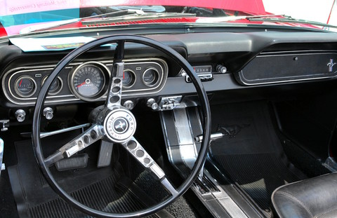 1966 Ford Mustang Convertible 6-Cylinder Engine Instrument Panel Signal Flare Red (2006 WW@WD DCTC) CL