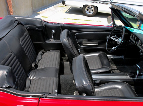 1966 Ford Mustang Convertible 6-Cylinder Engine Interior svr Signal Flare Red (2006 WW@WD DCTC) CL