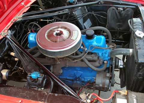 1966 Ford Mustang Convertible 6-Cylinder Engine svr Signal Flare Red (2006 WW@WD DCTC) CL