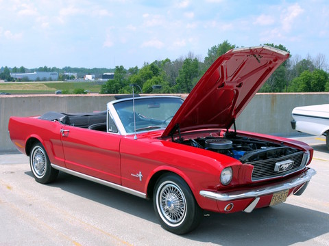 1966 Ford Mustang Convertible With 6 Cylinder Engine