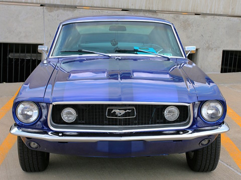 1968 Ford Mustang GT Fasback Acapulco Blue Poly fv (2006 WW@WD DCTC) CL