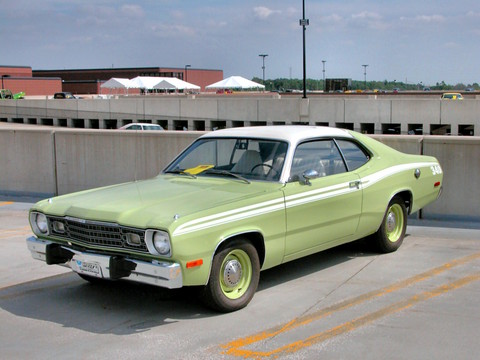 1973 Plymouth Duster 340 With White Canopy Vinyl Top Mist
