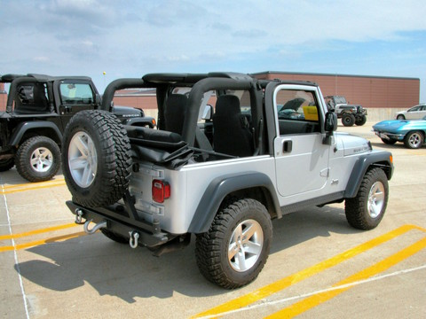2003 Jeep Wrangler Soft Top W Upper Door Frames Amp Roll Up