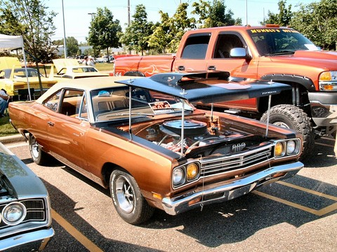 Road Runner Car >> 1969 Plymouth Road Runner Modified 383 Coupe Bronze fvr (2004 CEMA) F - Picture Gallery - Motorbase
