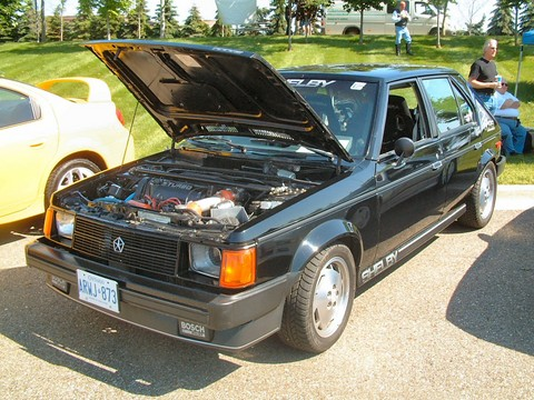 1986 Dodge Omni Shelby GLHS 4-Door Sedan 2.2L Turbo II Black fvl (2004 CEMA) F