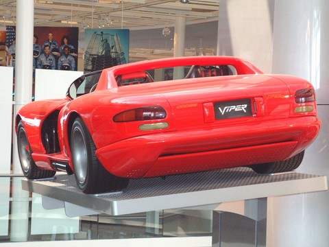 1989 Dodge Viper RT-10 Concept Car on Museum Vehicle Display Tower rvl ...
