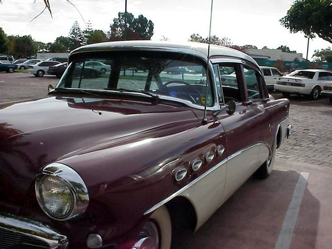 1956 Buick Super Sedan-maroon&white-fVl mx