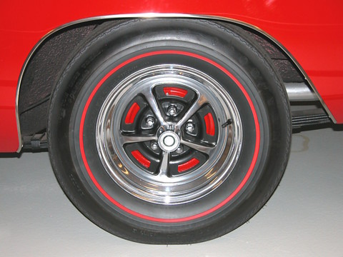 1968 Dodge Charger R T Rear Styled Steel Road Wheel Amp Red