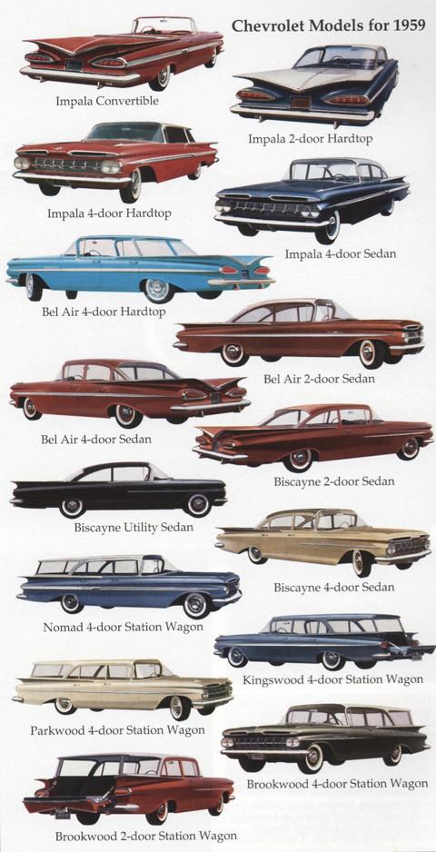 Chevrolet Models 1959 Picture Gallery Motorbase
