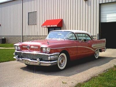 1958 Buick Special Riviera Coupe-red&wht walker