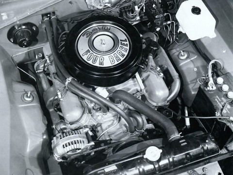 1968 Dodge Dart 340 4-Barrel Engine BW