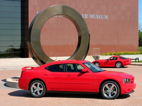 2007 Dodge Charger HEMI R-T + Road & Track Performance Group by Walter P. Chrysler Museum Sculpture TorRed svr 1 CL