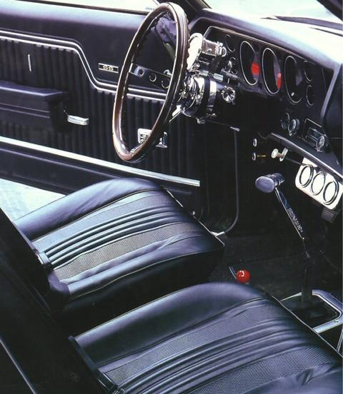 1970 Chevrolet Chevelle Ss 454 Street Rod Black 4 Speed Interior Instrumentment Panel