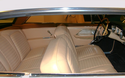 Limited White >> 1957 Chrysler 300C Hardtop Leather Bench Seat Interior svr Cloud White Garage (WPC Museum) CL ...