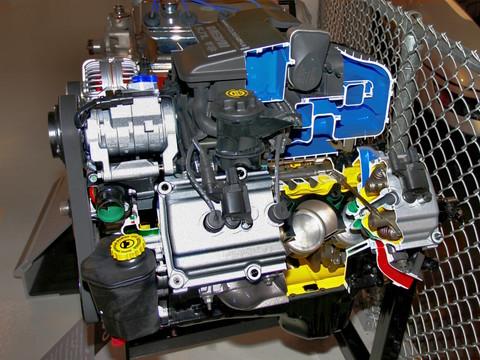 2003 dodge ram pickup 5 7l 345 hp hemi magnum cut a way engine sv garage wpc museum cl. Black Bedroom Furniture Sets. Home Design Ideas