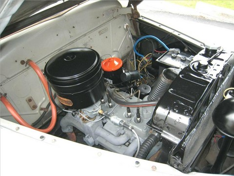 1948 Plymouth Special Deluxe coupe engine right