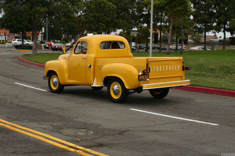 1953 Studebaker pickup - yellow - rvl