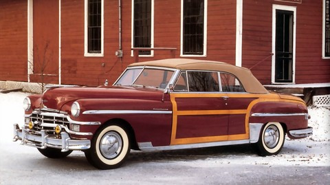 1949 Chrysler Town & Country Woody Convertible f3q