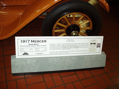 1917 Mercer Runabout - signage