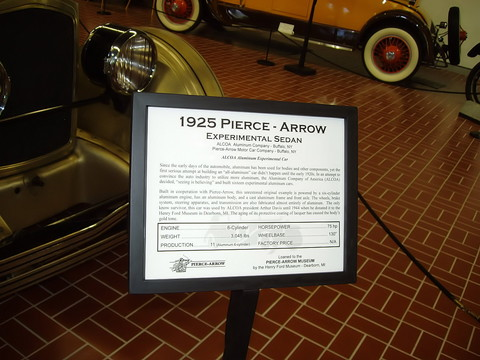 1925 Pierce - Arrow Experimental Sedan - signage
